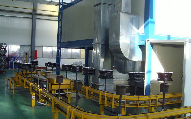 wheel e-coating line