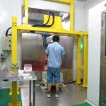 Coffee pot robotic spray coating line